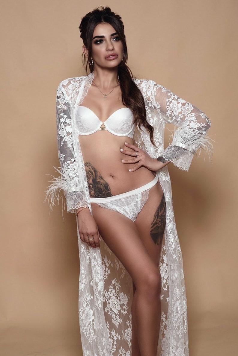 c15395327 White lace Lingerie set Bridal lingerie push-up bra