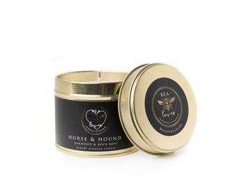 Bea Loves Luxury Scented Fragrant Natural Soy Wax 250g Candle: Horse & Hound - Oakwood Rock Rose