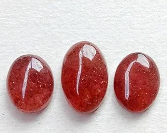 Strawberry Quartz Cabochon 1 Piece Size 29 MM Approximately