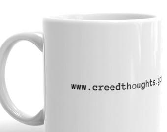 office mug coffee mug creed thoughts mug the office office dunder mifflin bratton scranton coffee gift mug etsy
