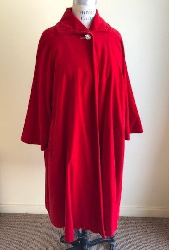 Red Velvet Swing Jacket