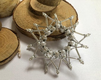 Pearl Star Double, Pearl Stars, Gift Tags, Napkin Holder, Gift Shipping at No Additional Cost