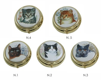 Small Wooden Decorative Storage Box Keepsake Box with Photo Frame Lid Trinket Box Cat Themed Gift for Cat Lovers
