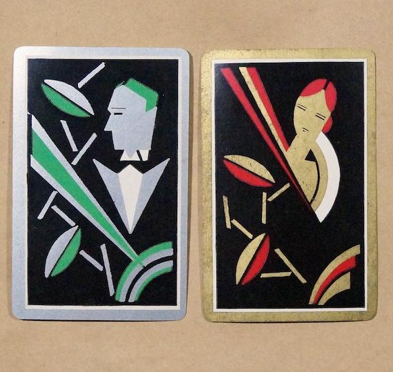 Art Deco Radio Station Vintage Playing Card Wall Art
