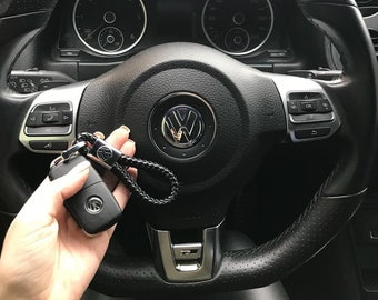 Volkswagen Amarok Leather Keyring Handmade Laser Cut VW Leather Loop Gift