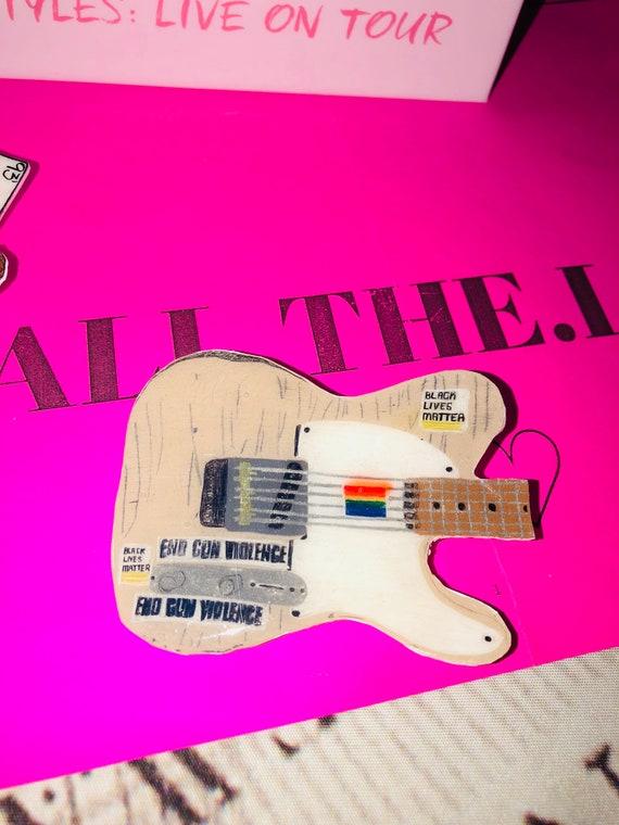 Harry Styles Guitar Pin Etsy