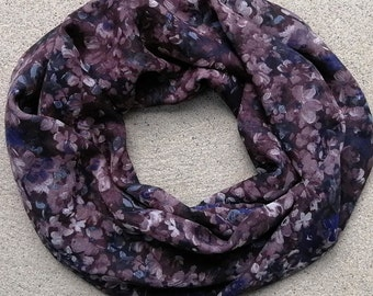 Ultra soft Infinity scarf, double wrap, 4 seasons, light, high quality fabric, so easy to wear, stylish, made in Montreal, Canada