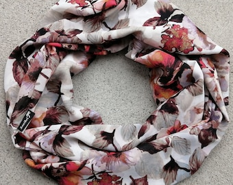 Ultra soft Infinity scarf, double wrap, 4 seasons, light, high quality fabric, so easy to wear, stylish, made in Montreal