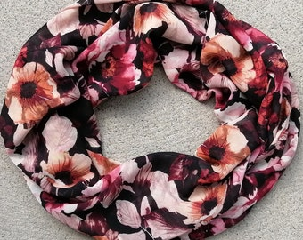 Ultra soft Infinity scarf, double wrap, 4 seasons, light, high quality fabric, so easy to wear, stylish, made in Montreal, Christmas gift