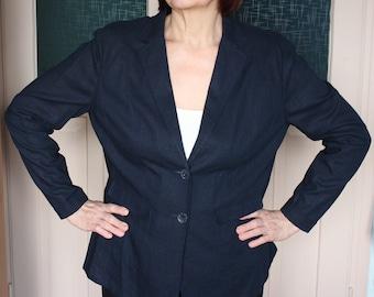 NY sake Linen Nautical Blazer