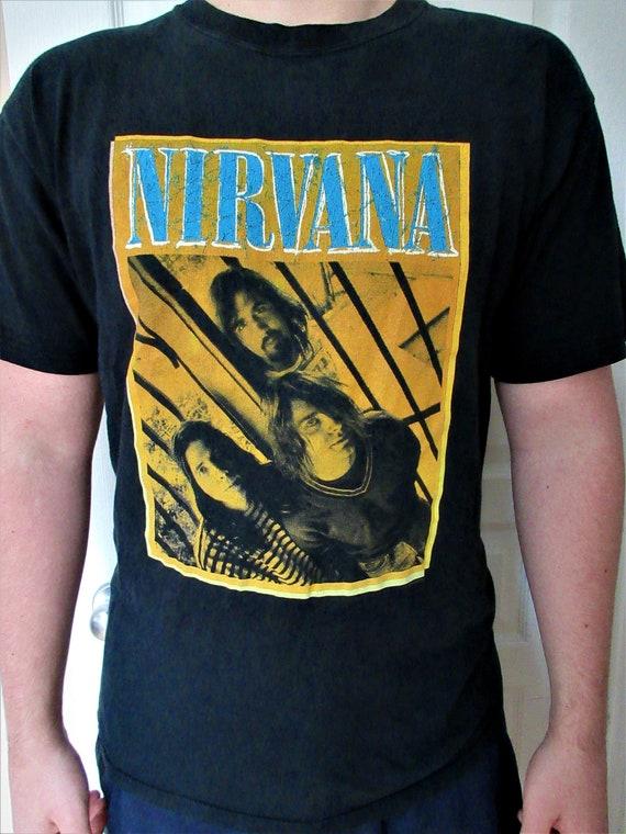 Nirvana vintage 90's rock t-shirt, Rare Nirvana Ro