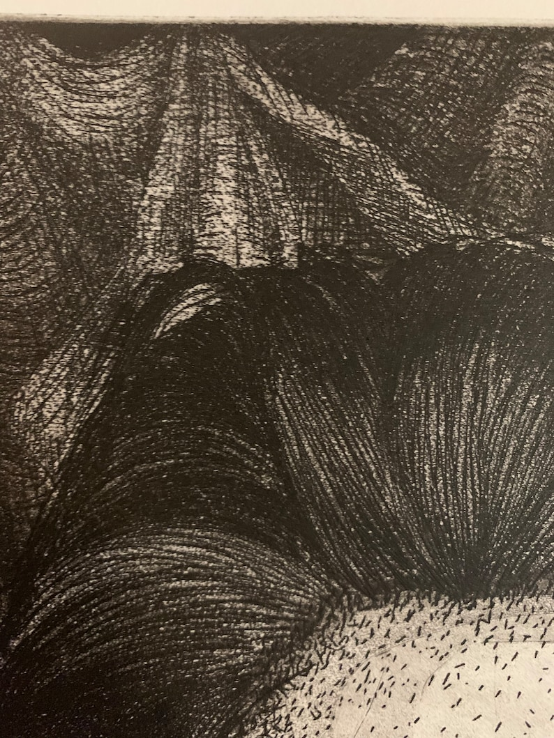 The Seamstress Atelophobia /' Etching Print