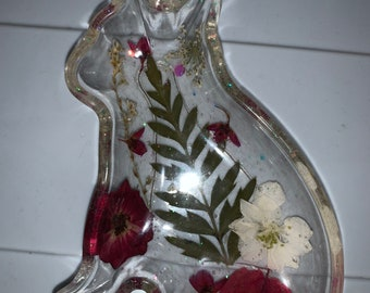 Set B Great for Gifts! Cat Shaped Resin Trinket Dish