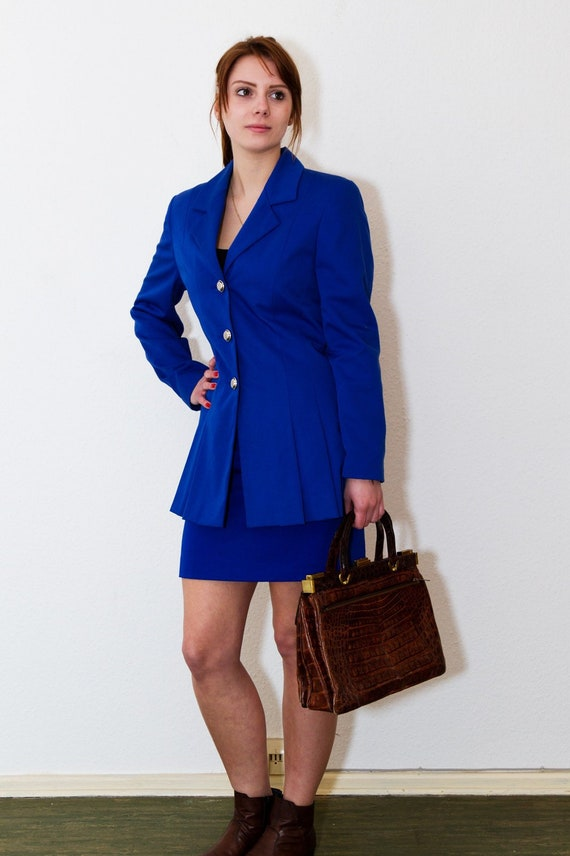 Set: Blazer + Rock in blue