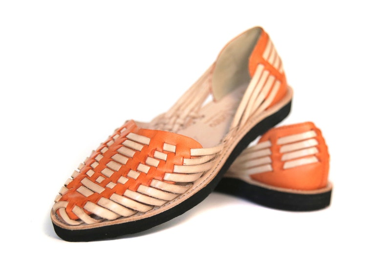 7bc99161803f WOMEN S CLOSED Toe Orange Natural 950 Mexican Sandals All