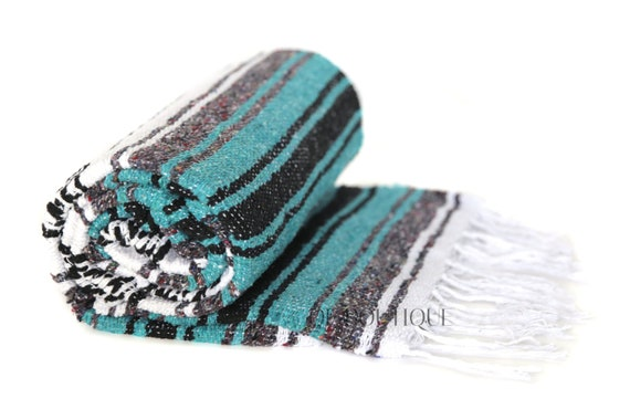 Traditionelle Authentische Mexikanische Decke Petrol Muster Handgefertigt Hot Rod Decken Weiche Qualität Tüchern Yoga Pilates