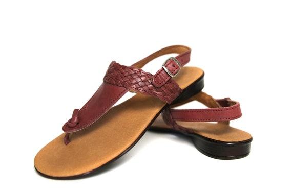 bb5b03de41a Women s Mexican Huarache Sandals Cherry 59 All Sizes