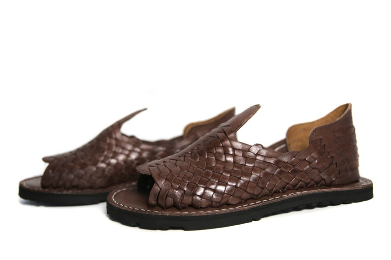 5d275053ee5d GRUESO Men s Mexican Huarache Sandals BROWN All Sizes
