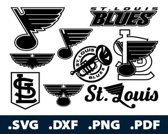 St Louis Blues Decal Etsy