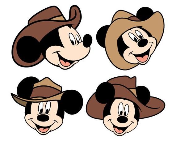Mickey Cowboy Svg Files Mickey Cowboys Cutting Files Disney Etsy