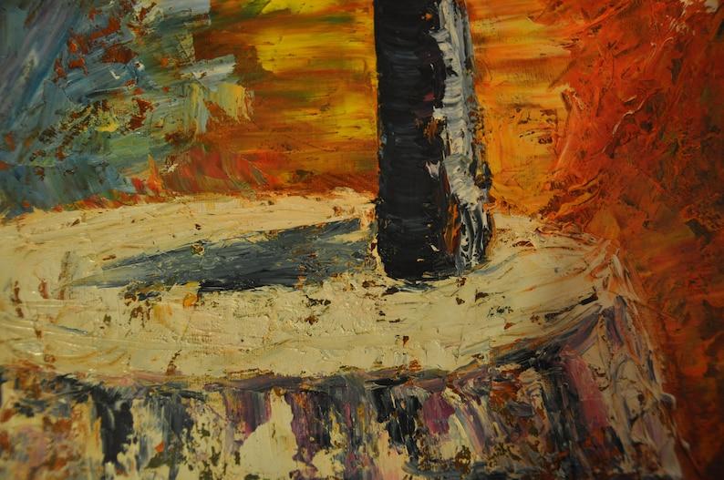 ArtTsvet. 100/% Handmade item 19.7x15.7 50x40 sm TitleFlowers on the table/'/' Impressionism,Original Oil Painting