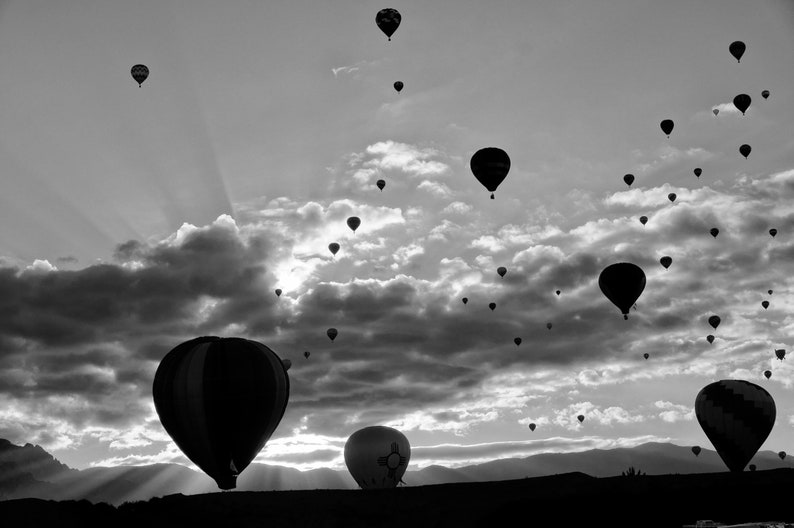 Albuquerque Balloon Fiesta, New Mexico, 2015 poster international hot-air  hot air festival celebration nm clouds cumulus sky ascend heavens