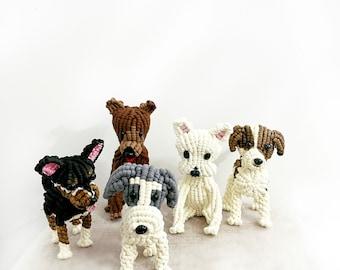 Macrame Dog/Dog 3D Sculptures/Fiber Sculpture/3D Dog/ Dog Art