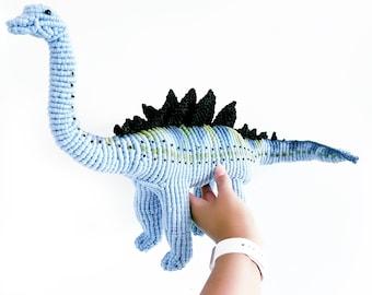 Macrame Dinosaur/ Dinosaur Art/Agustinia Dinosaur/Dino/ Macrame Animal