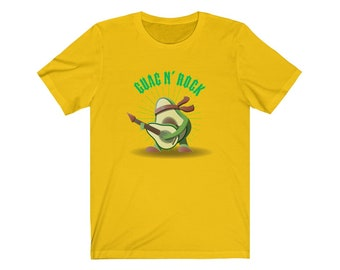 Guac n Roll Guac N' Rock | Men & Women Avocado Vegan T-Shirt | Plant Based Fashion | Vegan Collection | Herbivore Party