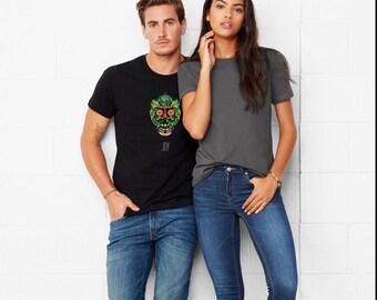 JOY | Vegan Skull | Men & Women Vegan Vegetarian Fruitarian T-Shirt | Vegetable Shirt | Herbivore Fashion