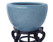 light celadon planter in japanese style porcelain container 20 quot dia