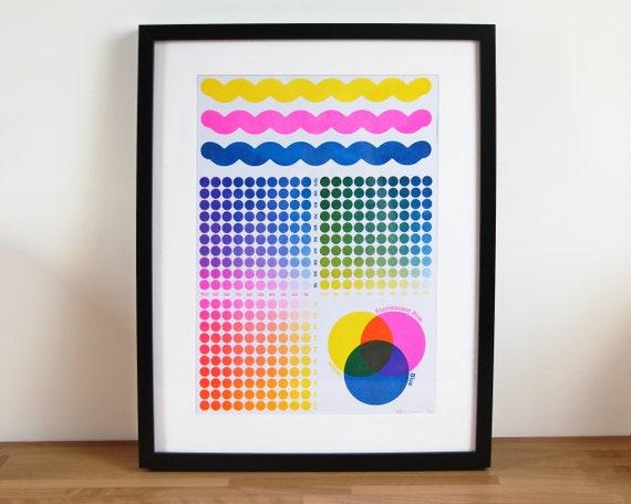 A3 Risograph Print Colour Chart - LIMITED EDITION Large Riso Print / Colour Wheel Risograph Poster