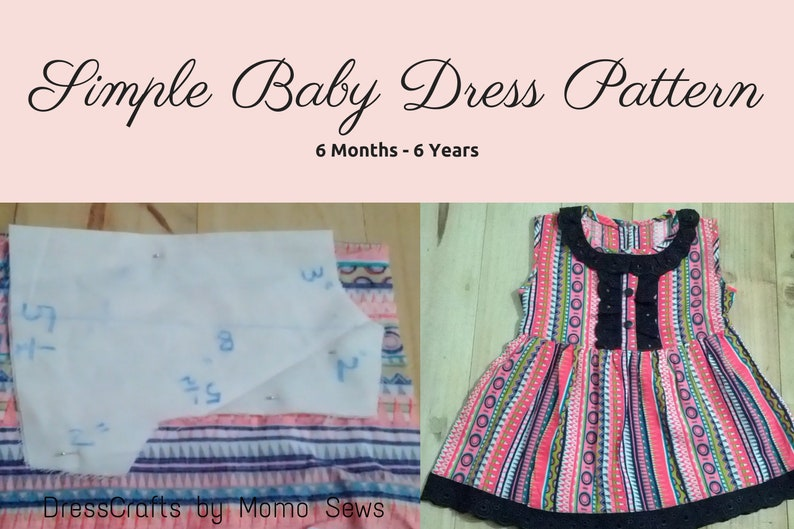 f760e8472ca71 Simple Baby Dress Pattern by Dresscrafts ( 6Mon-6T) - PDF Pattern - Digital  Download