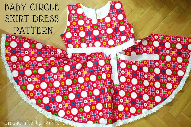 cd9c703c97472 Baby Circle Skirt Dress Pattern by Dresscrafts for 12Months to 5Years - PDF  Pattern - Digital Download