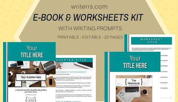 Powerpoint Template E Book Template And Workbook Template Pack Etsy