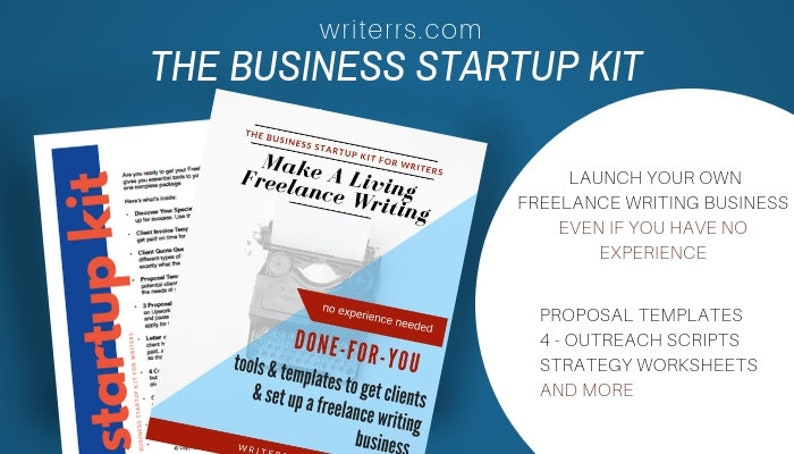 Marketing Templates For Freelance Writers Copy Paste Business Etsy