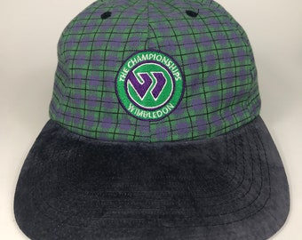 8e52e928 Vintage Wimbledon The Championship Tennis Tournament Cap Hat by Kent and  Curwen