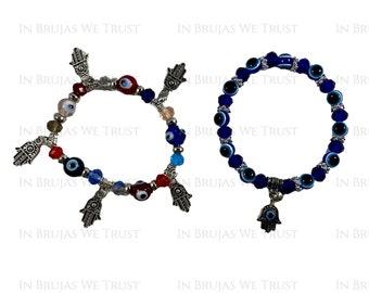 Evil Eye Bracelet Elastic   Evil Eye Protection Bracelet   Pulso De Mal De Ojo Elastico   Both Bracelets Included