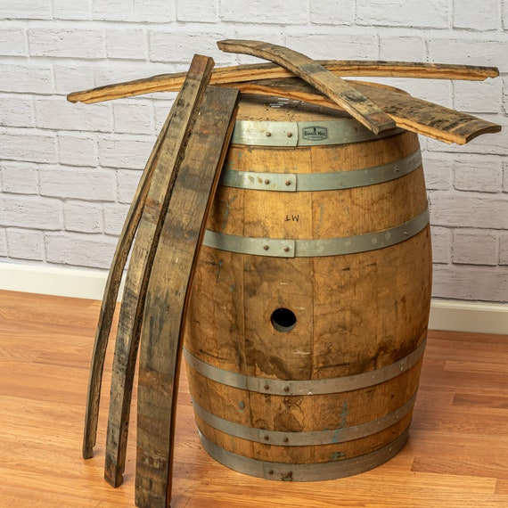 Whiskey Wood - Barrel Stave Reclaimed Project Wood Rustic Project Wood Whiskey Barrel Wood 10 Pack Oak Whiskey Barrel Staves