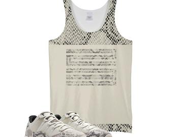 2fb70b828 Snakeskin Print Light Bone| Retro Jordan 11 Colorblock Tank | Tank Top |  Designed to Match Air Jordan 11 Sneakers Active