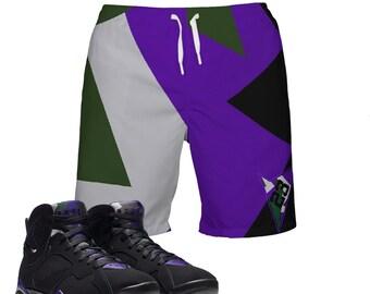 4223780247e Ray Allen | Retro Jordan 7 Colorblock Swim Trunks | Swim fashion | Designed  to Match Air Jordan VII Sneakers Active | Shorts