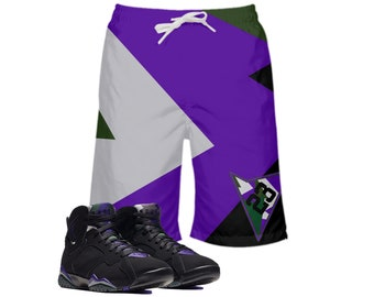 69dd2f8ee42 KIDS | Ray Allen | Retro Jordan 7 Colorblock Boys | Girls | Swim Trunks |  Swim fashion | Designed to Match Air Jordan VII Sneakers | Shorts