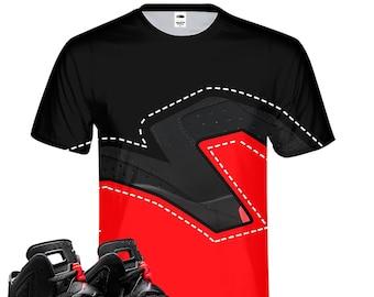 b24c3a5ad2d Infrared   Retro Jordan 6 Colorblock tee  tshirt   Designed to Match Air Jordan  6 Sneakers