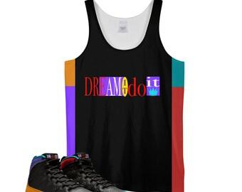 e10b07848c Tank | Dream It Do It| Retro Jordan 9 Colorblock |Tank top | Designed to  Match Air Jordan 9 Sneaker flight nostalgia IX