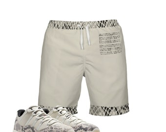 e9f9251f0ca Snakeskin Print Light Bone | Retro Jordan 11 Colorblock Swim Trunks | Swim  fashion | Designed to Match Air Jordan 11 Sneakers