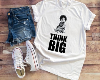 5de40f98e5b Unisex Biggie Smalls Think Big Tee