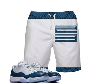 edd4cdea932 Snakeskin Print | Retro Jordan 11 Colorblock Swim Trunks | Swim fashion |  Designed to Match Air Jordan 11 Sneakers Active
