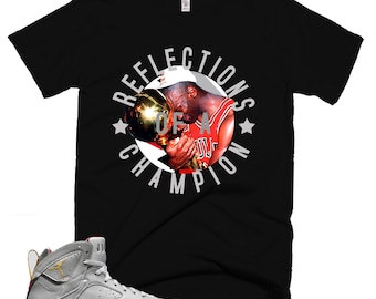 check out 72eae c9cca Trophy   3M Reflective T-Shirt   Retro Jordan 6 Jordan 7 Jordan 8 T-shirt    Tee   Shirt   Designed to Match Air Jordan Sneakers VII VI VIII