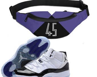 reputable site 0ee72 86e37 Retro Concord Colorblock Crossbody bag   Sling Bag   Hip Pack   Fanny Pack    Designed to Match Air Jordan 11 Sneakers