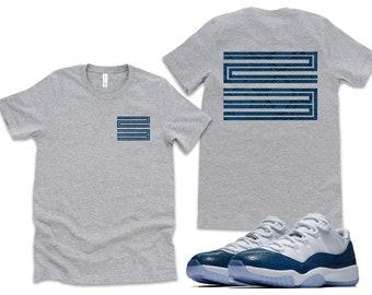 93378a066 Front & Back |Snake Skin Print| Retro Jordan 11 Tee | T-shirt | Designed to  Match Air Jordan 11 Sneakers Active flight nostalgia XI Shirt 23